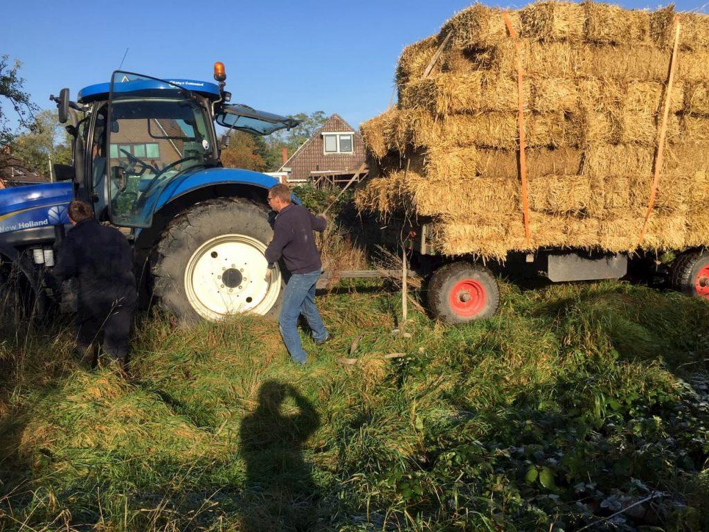 Schrieverswold | Levering stro voor mulchlaag | Oktober 2019