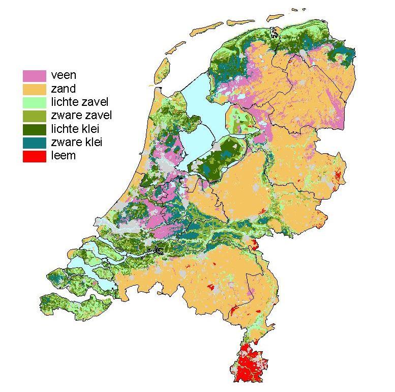 Grondsoortenkaart Nederland | 2006