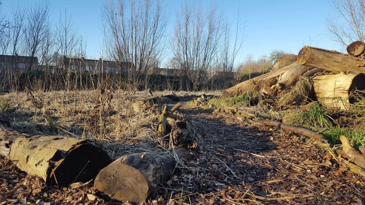 Aanleg bospaden met houtsnippers | Schrieverswold